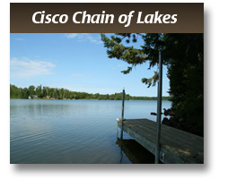 Anglers Isle sits rite off of the Cisco chain of Lake. Please Click Here to learn mor about the Cisco Chain of Lakes